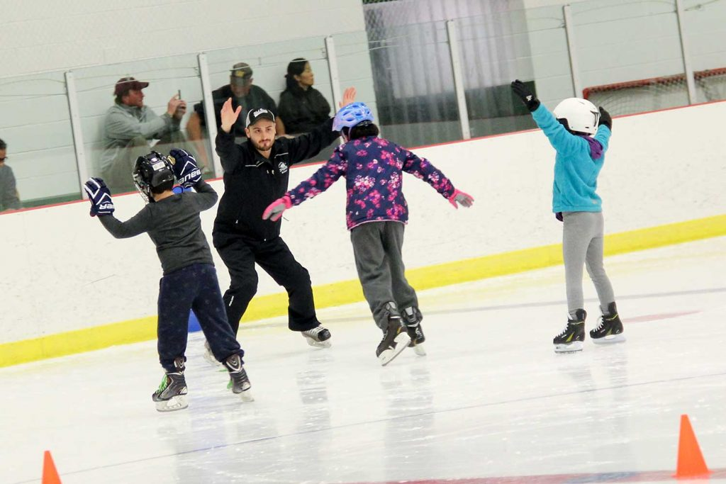 Children skating